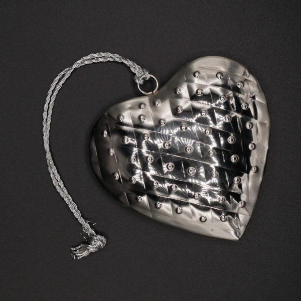 Coeur métal argenté