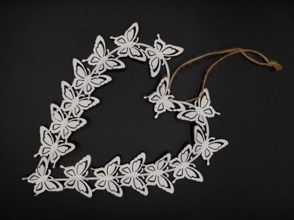 Coeur métal papillons