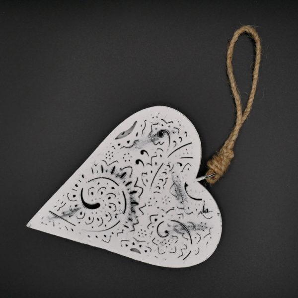 Coeur métal blanc