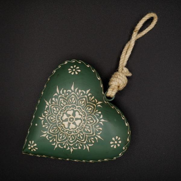 Coeur métal vert