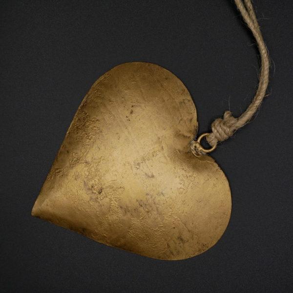 Coeur métal doré