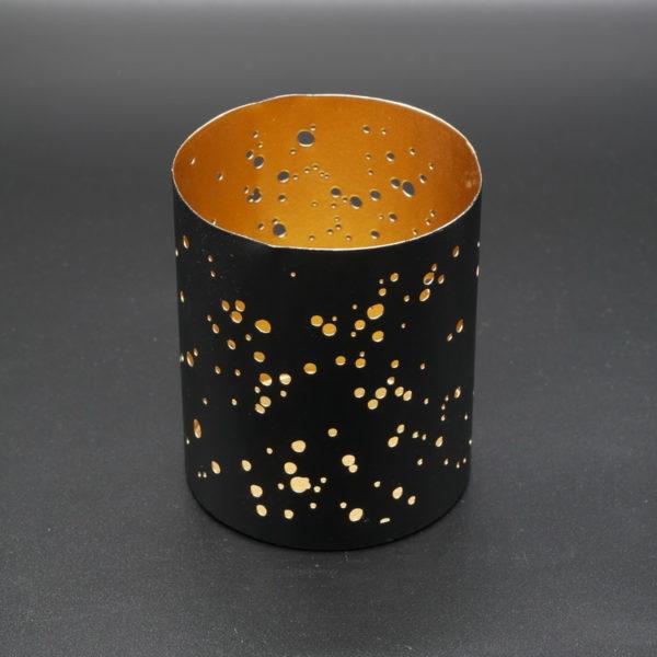 Photophore métal noir