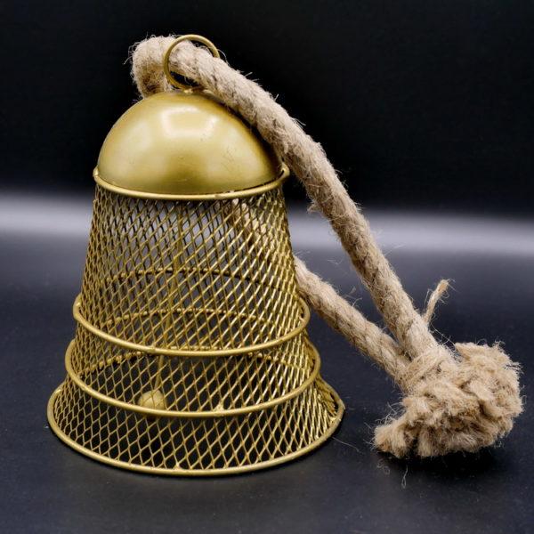 Cloche métal doré