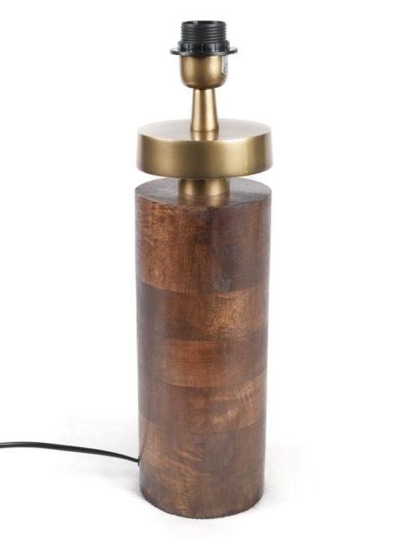 Pied de lampe métal et bois