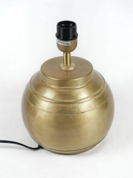 Pied de lampe boule doré