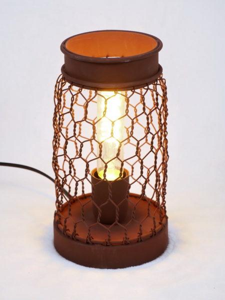 Lampe à poser grillage