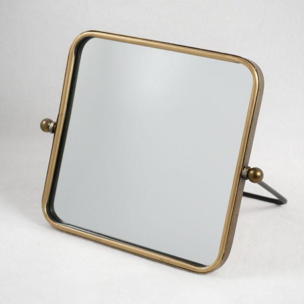 Miroir à poser en métal