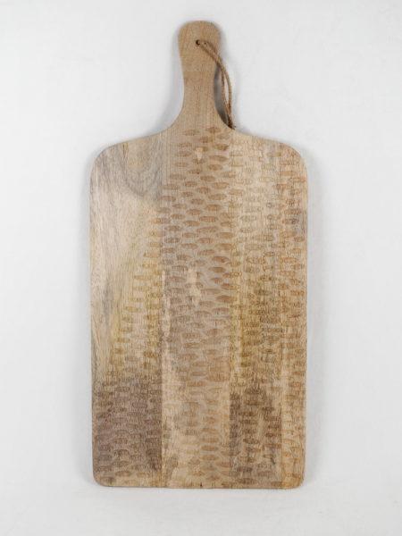 Planche sculptée en bois