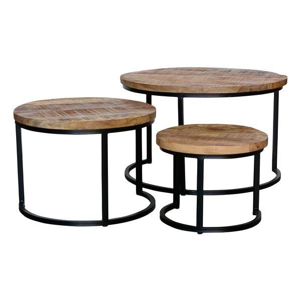 Tables basses bois et métal