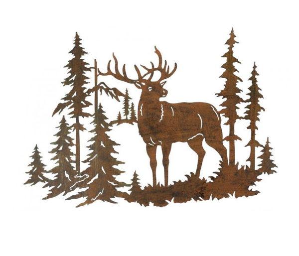 Décoration cerf en forêt