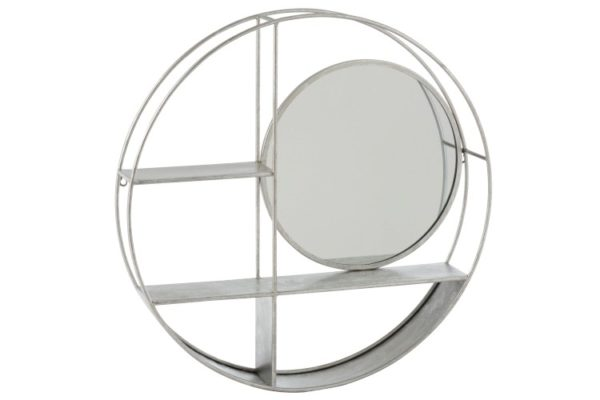 Etagère ronde avec miroir