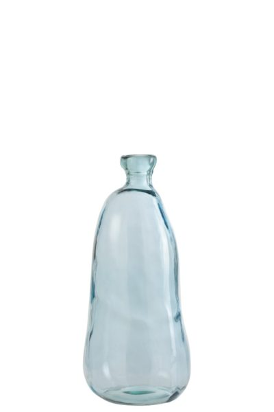 Vase en verre bleu clair