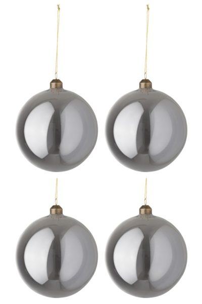 Boule de Noël gris métallisé