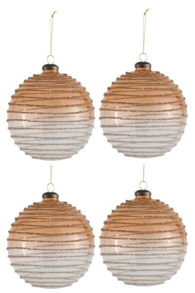 Boule de Noël perles en spirale
