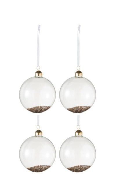 Boule de Noël paillettes dorées