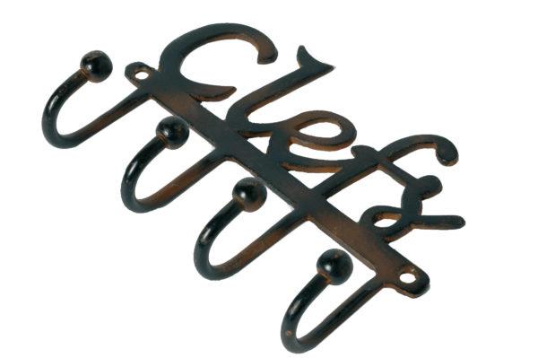 Patère 4 crochets clefs