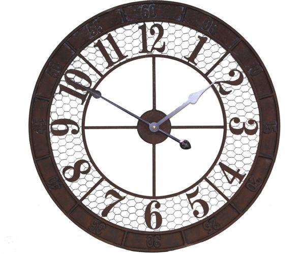 Horloge aspect rouillé