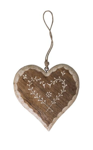 Grand coeur en bois