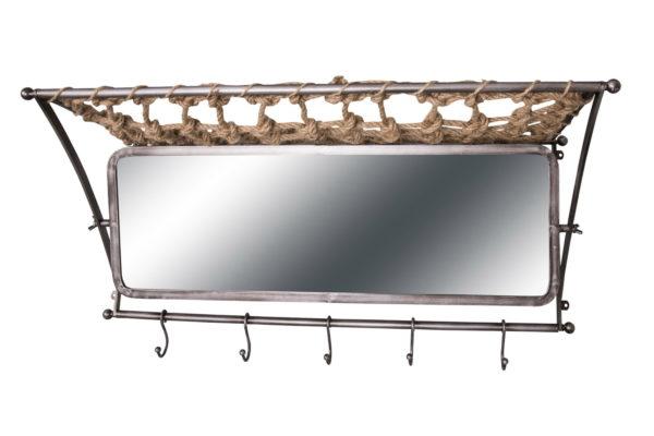 Etagère wagon-lit avec miroir