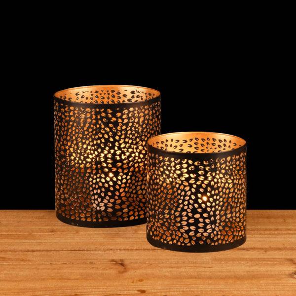 Photophore ovale grains de café