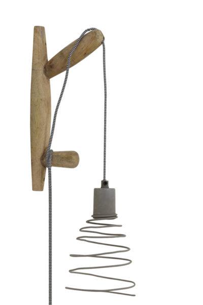 Applique bois et métal