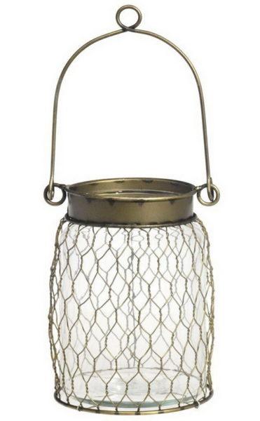 Lanterne grillage laiton