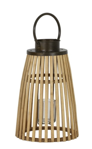 Lanterne bambou et métal