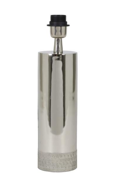 Pied de lampe métal brillant