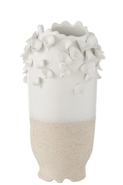 Vase «fleurs» en céramique