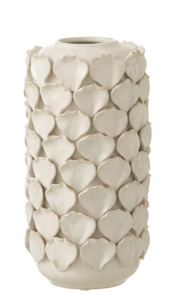 Vase «feuilles» en céramique