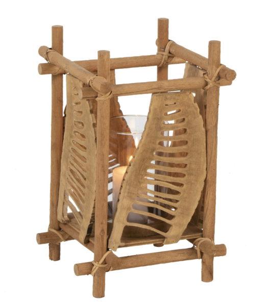 Photophore bambou et verre