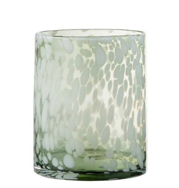Vase photophore tacheté
