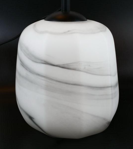 Lampe en verre blanche